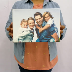 Family Photo A4 Canvas